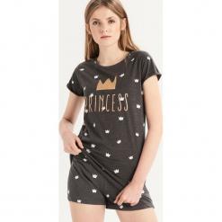 Dwuczęściowa piżama z nadrukiem all over - Szary. Czarne piżamy damskie marki Reserved, l. Za 39,99 zł.
