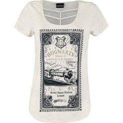 Harry Potter Hogwarts Express Koszulka damska odcienie beżowego. Brązowe bluzki nietoperze Harry Potter, xl, z nadrukiem. Za 99,90 zł.
