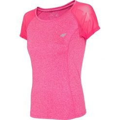 Koszulka treningowa damska TSDF301 - różowy melanż. Czerwone bluzki z odkrytymi ramionami 4f, melanż, z dzianiny. Za 49,99 zł.