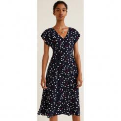 Mango - Sukienka Norman. Szare sukienki mini Mango, na co dzień, l, z materiału, casualowe, z krótkim rękawem, proste. Za 139,90 zł.