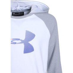Under Armour THREADBORNE TERRY LOGO HOODY  Bluza z kapturem white. Białe bluzy dziewczęce rozpinane marki Under Armour, z bawełny, z kapturem. W wyprzedaży za 170,10 zł.