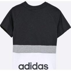 Adidas Performance - T-shirt dziecięcy 110-176 cm. Czarne t-shirty chłopięce adidas Performance, z bawełny, z okrągłym kołnierzem. Za 99,90 zł.