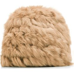 85-HF-011-5 Czapka damska. Brązowe czapki damskie Wittchen, na zimę, z tkaniny. Za 79,00 zł.