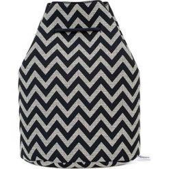 Plecak w kolorze szaro-czarnym - (S)33 x (W)37 x (G)10 cm. Czarne plecaki damskie Pijama, z materiału. W wyprzedaży za 149,95 zł.