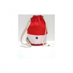 Torba Baggy. Czerwone torebki klasyczne damskie marki Dreslove, w kolorowe wzory, z bawełny, małe. Za 199,00 zł.