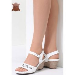Białe Skórzane Sandały This Town. Białe sandały damskie marki vices, na koturnie. Za 99,99 zł.