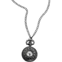 Naszyjniki damskie: Wildcat Black Rome Pocket Watch Zegarek – Naszyjnik czarny