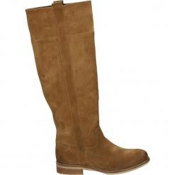 Kozaki - 518-GEM-6 COG. Brązowe buty zimowe damskie Venezia, ze skóry. Za 499,00 zł.