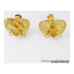 Kolczyki damskie: Złota orchidea - Kolczyki srebrne