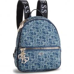 Plecak GUESS - HWSG71 84320 DENIM. Niebieskie plecaki damskie marki Guess, z aplikacjami, z denimu, eleganckie. Za 559,00 zł.