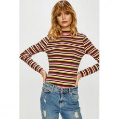 Only - Bluzka Fifi. Szare bluzki z golfem marki ONLY, l, z bawełny, casualowe. Za 69,90 zł.