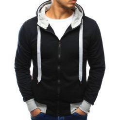 Bluzy męskie: Bluza męska z kapturem rozpinana czarna (bx3019)
