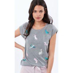 Etam - Top piżamowy. Niebieskie piżamy damskie marki Etam, l, z bawełny. Za 89,90 zł.
