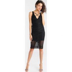 Sukienki hiszpanki: Missguided CROSS FRONT MIDI DRESS Sukienka koktajlowa black