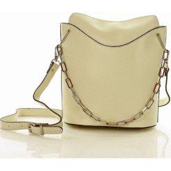 BEL COLORE skórzana torebka Włoska beżowa. Brązowe torebki klasyczne damskie MAZZINI, w geometryczne wzory, ze skóry. Za 239,00 zł.