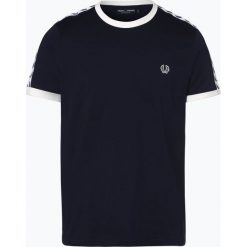 Fred Perry - T-shirt męski, niebieski. Niebieskie t-shirty męskie Fred Perry, l, z podwójnym kołnierzykiem. Za 229,95 zł.