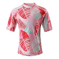 Bielizna dziewczęca: Reima T-Shirt Dziecięcy Fiji Uv 50+ 104 Czerwony