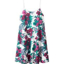 Sukienki dziewczęce: Sukienka letnia bonprix biały z nadrukiem