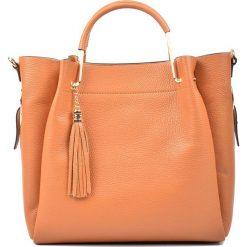 Torebki klasyczne damskie: Skórzana torebka w kolorze brązowym – 31 x 38 x 10 cm