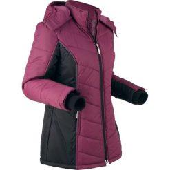 Kurtka funkcyjna outdoorowa, pikowana bonprix jeżynowo-czarny. Czarne kurtki damskie pikowane marki bonprix, s. Za 189,99 zł.