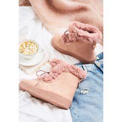 Buty zimowe damskie: Różowe Śniegowce Lovin' Youu Too Long