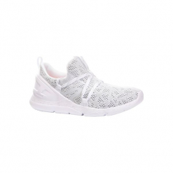 Buty damskie do szybkiego marszu PW 140 w kolorze białym. Czarne buty do fitnessu damskie marki Adidas, z kauczuku. Za 79,99 zł.