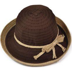 Kapelusze damskie: Art of Polo Kapelusz damski obszyty słomą  brązowy