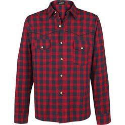 Banned Alternative Checkered Western Koszula czerwony. Czerwone koszule męskie na spinki Banned, l, z bawełny, z długim rękawem. Za 244,90 zł.