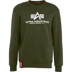 Bejsbolówki męskie: Alpha Industries BASIC SWEATER Bluza dark green