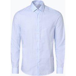 Calvin Klein - Koszula męska łatwa w prasowaniu, niebieski. Niebieskie koszule męskie na spinki Calvin Klein, m, z klasycznym kołnierzykiem. Za 299,95 zł.