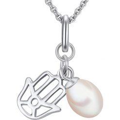 Naszyjniki damskie: Srebrny naszyjnik z zawieszką – dł. 70 cm