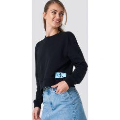 Calvin Klein Bluza Monogram Logo Badge - Black. Czarne bluzy rozpinane damskie Calvin Klein, z aplikacjami. Za 364,95 zł.