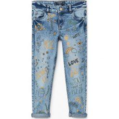 Odzież dziecięca: Mango Kids - Jeansy dziecięce print 116-164 cm