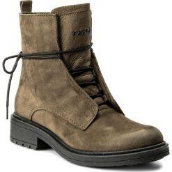 Botki CARINII - B4030 I43-000-POL-C48. Zielone buty zimowe damskie marki Carinii, z nubiku, na obcasie. W wyprzedaży za 289,00 zł.
