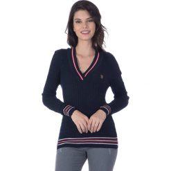 """Swetry klasyczne damskie: Sweter """"Ball"""" w kolorze granatowym"""
