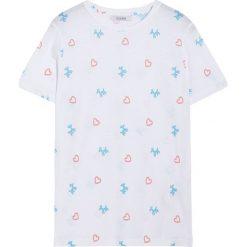 Koszulka z krótkim rękawem w balony. Białe t-shirty damskie Pull&Bear. Za 29,90 zł.