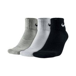 Skarpety Nike 3PPK Cushion Quarter (SX4703-901). Białe skarpetki męskie marki Nike, z bawełny. Za 39,99 zł.