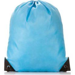 Niebieski Młodzieżowy szkolny plecak worek. Szara plecaki męskie marki KIPSTA, z materiału, młodzieżowe. Za 14,90 zł.