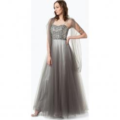 Luxuar Fashion - Damska sukienka wieczorowa z etolą, szary. Brązowe sukienki koktajlowe marki Reserved, m, z gorsetem, gorsetowe. Za 599,95 zł.