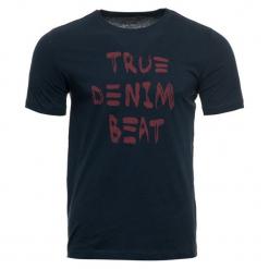 Mustang T-Shirt Męski, L, Ciemnoniebieski. Czarne t-shirty męskie marki Mustang, l, z bawełny, z kapturem. Za 78,00 zł.