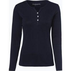Brookshire - Damska koszulka z długim rękawem, niebieski. Niebieskie t-shirty damskie brookshire, m, z bawełny, z kołnierzem typu henley. Za 99,95 zł.