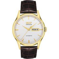 RABAT ZEGAREK TISSOT VISODATE AUTOMATIC T019.430.36.031.01. Białe zegarki męskie TISSOT, szklane. W wyprzedaży za 2085,60 zł.