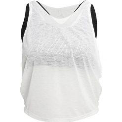 Nike Performance Koszulka sportowa white/black. Brązowe topy sportowe damskie marki N/A, w kolorowe wzory. W wyprzedaży za 139,30 zł.
