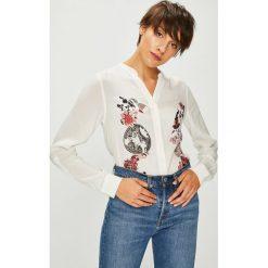 Desigual - Koszula. Szare koszule damskie marki Desigual, l, z nadrukiem, z tkaniny, casualowe, ze stójką, z długim rękawem. Za 299,90 zł.