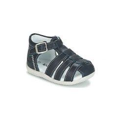 Sandały Dziecko  Kickers  BIGFLY. Niebieskie sandały dziewczęce marki Kickers, z kauczuku, na sznurówki. Za 289,00 zł.