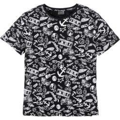 T-shirty męskie: T-shirt Slim Fit bonprix czarny z nadrukiem