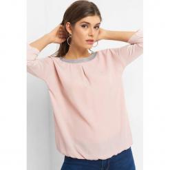 Koszulka z błyszczącą lamówką. Brązowe bluzki longsleeves marki Orsay, s, z dzianiny. Za 59,99 zł.