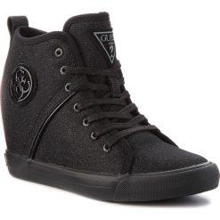 Sneakersy GUESS - FLJLY3 FAM12 BLACK. Czarne sneakersy damskie marki Guess, z materiału. Za 529,00 zł.