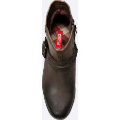 Big Star - Botki. Czarne buty zimowe damskie BIG STAR, z materiału, retro, z okrągłym noskiem. W wyprzedaży za 129,90 zł.