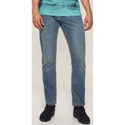 Jeansy regular classic - Niebieski. Szare jeansy męskie regular marki House, l, z bawełny. Za 99,99 zł.
